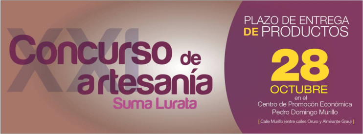 suma lurata 2013 concurso de artesanias la paz