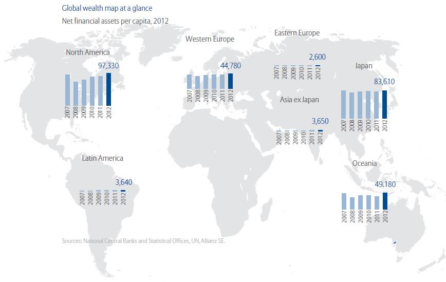 Mapa de la riqueza global
