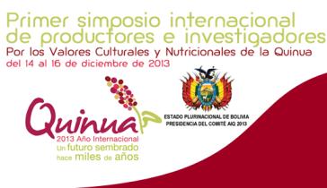 1 simposio itnernaicoanl de la quinua