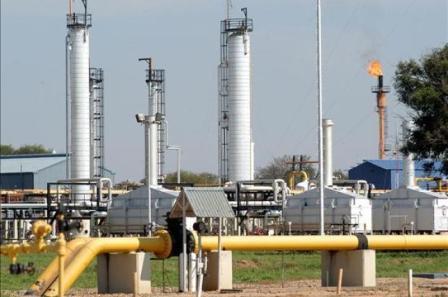 exploración de gas
