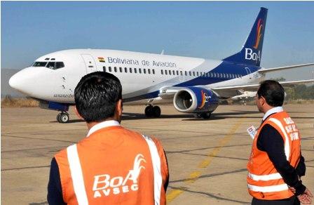 Avión de BoA. /Fuente El Día.