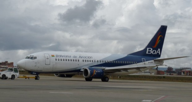 BoA anuncia llegada de su tercera aeronave./Fuente Erbol