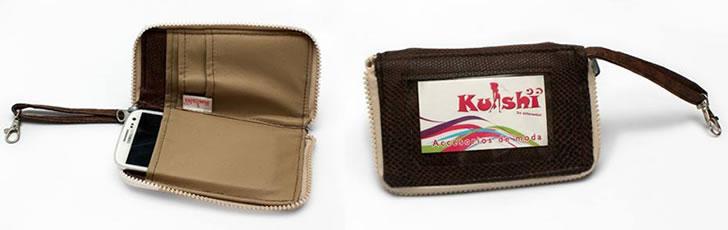 billetera y porta celu