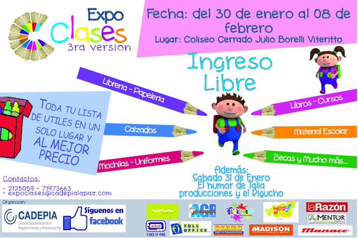 expoclases 2015 bolivia