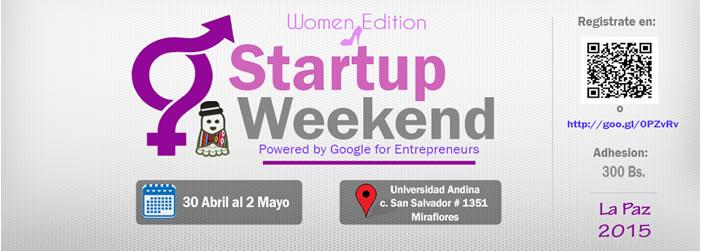 startup weekend women la paz 2015