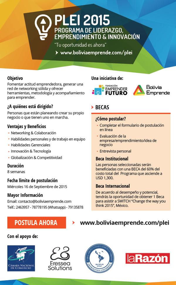 PLEI2015 liderazgo emprendimiento innovacion