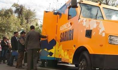 Sariri, primera agencia móvil. Fuente. Página Siete