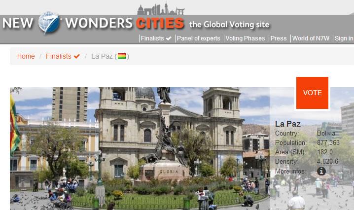 La Paz ciudad maravilla