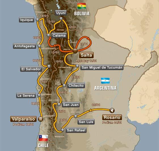 Ruta del Dakar 2014