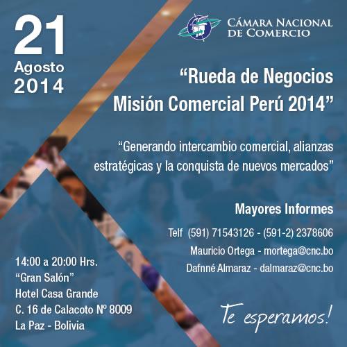 cnc mision comercial perú