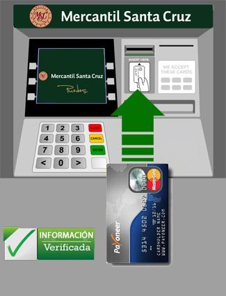 Cajero de BMSC/ Payoneerbolivia