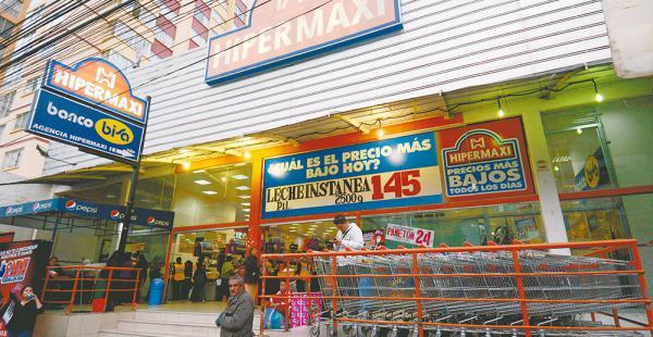 Hipermaxi estrenó un local en La Paz./ Fuente El Deber