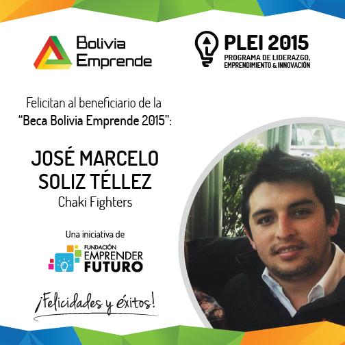 beca bolivia emprende marcelo soliz tellez 2015
