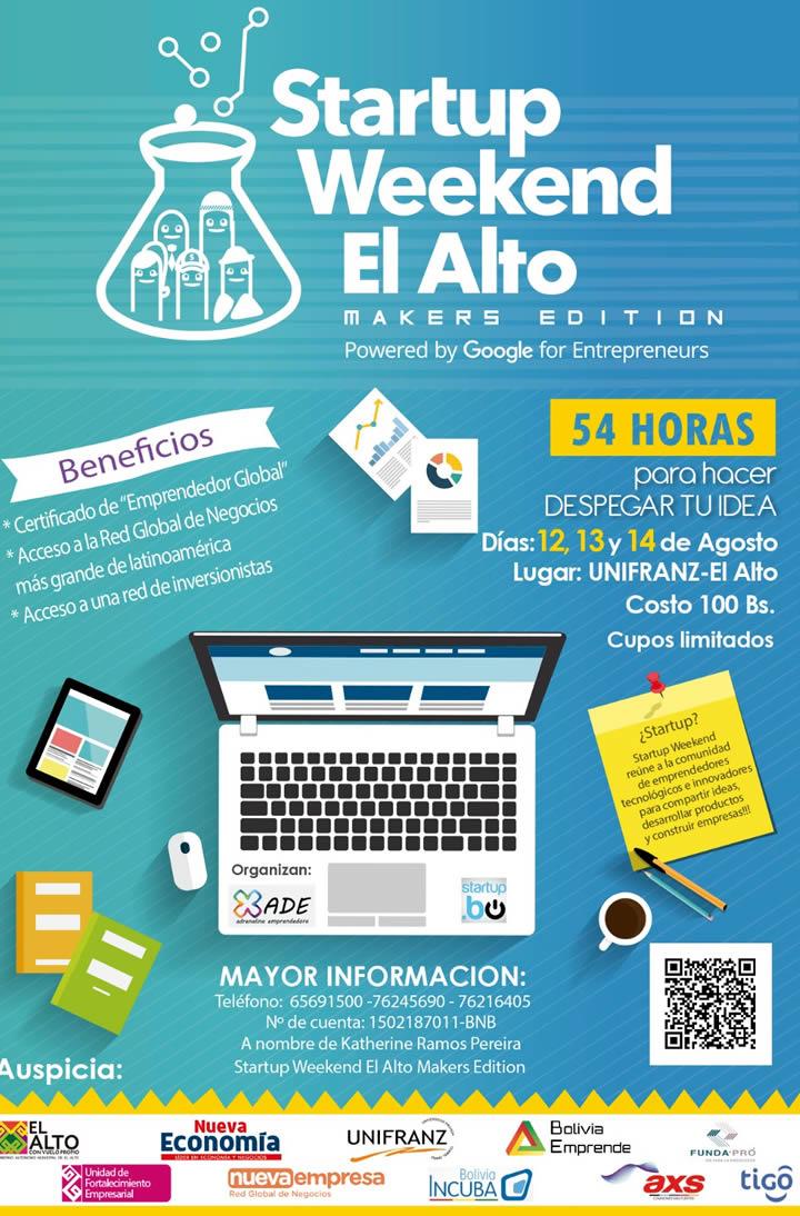 bolivia emprende startup weeken el alto